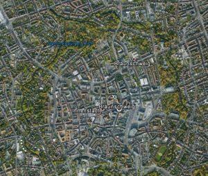 Braunschweig heute. Quelle: Google Earth.