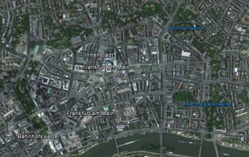 Frankfurt am Main. Quelle: Google Earth.