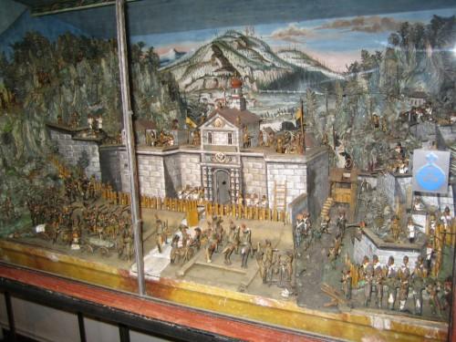 Diorama der Kämpfe 1805 in Oberammergau