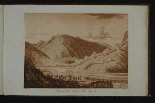 Darstellung der Kämpfe 1805