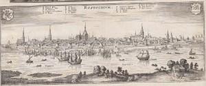 Ansicht Rostocks, ohne Zeit und Autor. Quelle: Württembergische Landesbibliothek