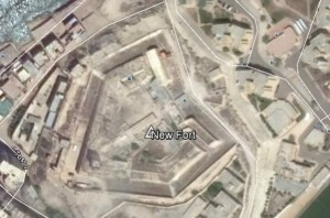 New Fort bei Abukir. Quelle: Google Earth.