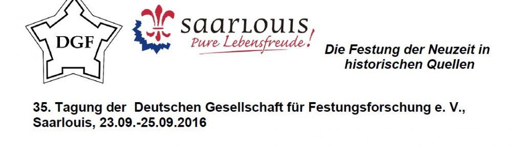 35. Tagung der Deutschen Gesellschaft für Festungsforschung