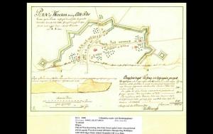 Plan von Blessinghs. 1739. Quelle: Reichskriegsarchiv Stockholm.