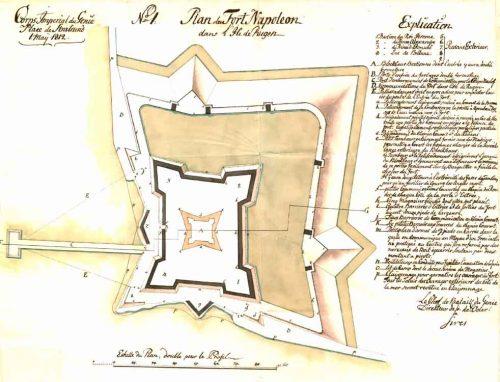 Fort Napoleon, Plan von 1812. Quelle: Reichskriegsarchiv Stockholm/Schweden.