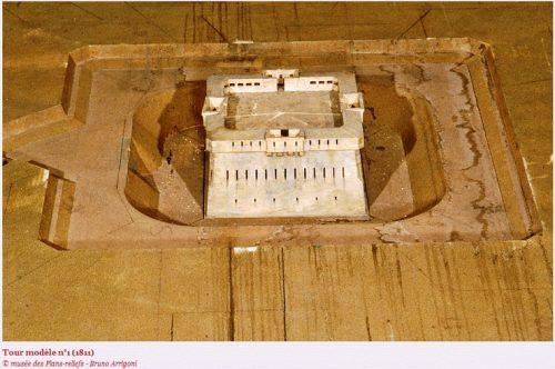 Modellturm Nr. 1. Quelle: Musée des Plans-reliefs.