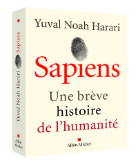 """Book cover of """"Sapiens - a brief history of humankind"""" by Yuval Noah Harari"""