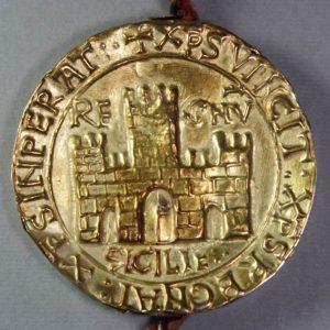 Golden Bull of the Sicillian King Friedrich II.,1212 (NA, AČK, Inv. No.2)