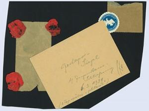 """im archiv des jugendhaus düsseldorf e.v. A 36/67; Text: Gestapo-Siegel Jugendhaus-Schließung 6.2.1939 (2 Tage später """"geklaut"""")"""