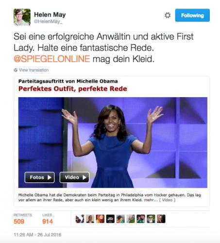 Commentaire sur le discours de Michelle Obama à la convention démocrate, Juillet 2016