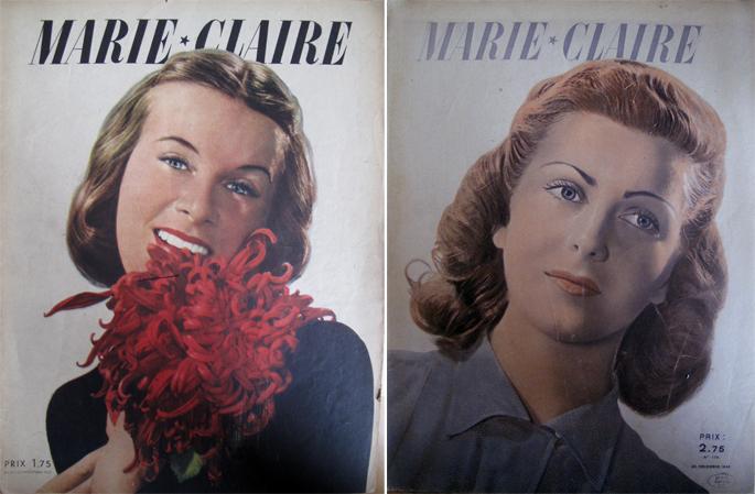 Marie-Claire, Une colorée, 1937 Une en bichromie, 1940