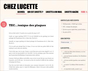 Blog Chez Lucette consacré à la PMA, capture d'écran 16 avril 2014