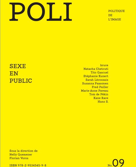"""couverture de la revue POLI n°9 intitulée """"Sexe en Public"""""""