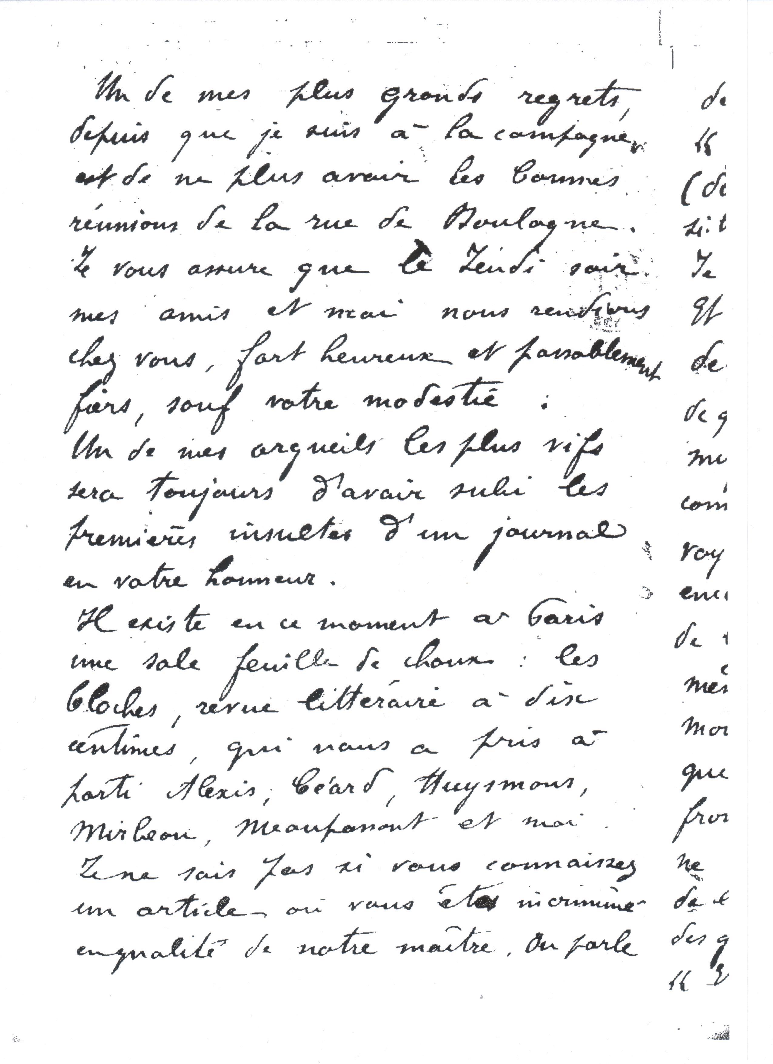 Première lettre connue, datée du 21 juin 1877, envoyée depuis Ribemont à l'Estaque, où Zola écrit Une page d'amour. Page 2/4. BnF, MSS, N. a. f. 24520, f° 118.