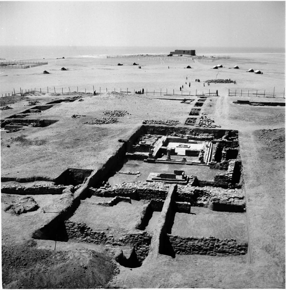 Fig. 2 : le temple A découvert durant les fouilles de la Danish Archaeological Expedition to Kuwait (Moesgaard Museum 1960)