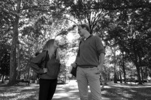 Lisa und Florian auf dem Campus der Ohio University.
