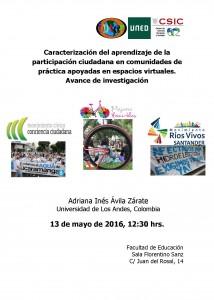 CARTEL Seminario Adriana Inés Avila