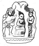 Fig. 11 : Musée de Lahore, Ht 18cm. (d'après Kurita, 2003, fig. 340).