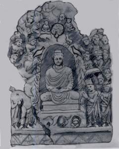Fig. 20 : Prov. Loriyan Tangai, musée de Calcutta, Ht 120cm.