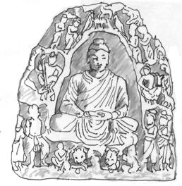 Fig. 21 : Coll. privée, Ht 46 cm (d'après Kurita fig. 331).