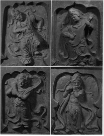 Fig. 5 - 6 : Danseurs musiciens tombe de Beisucun - Shanxi