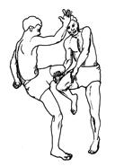 Fig. 5 : Lutteurs birmans