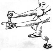 Fig. 6 : Le geste du lancer de bille