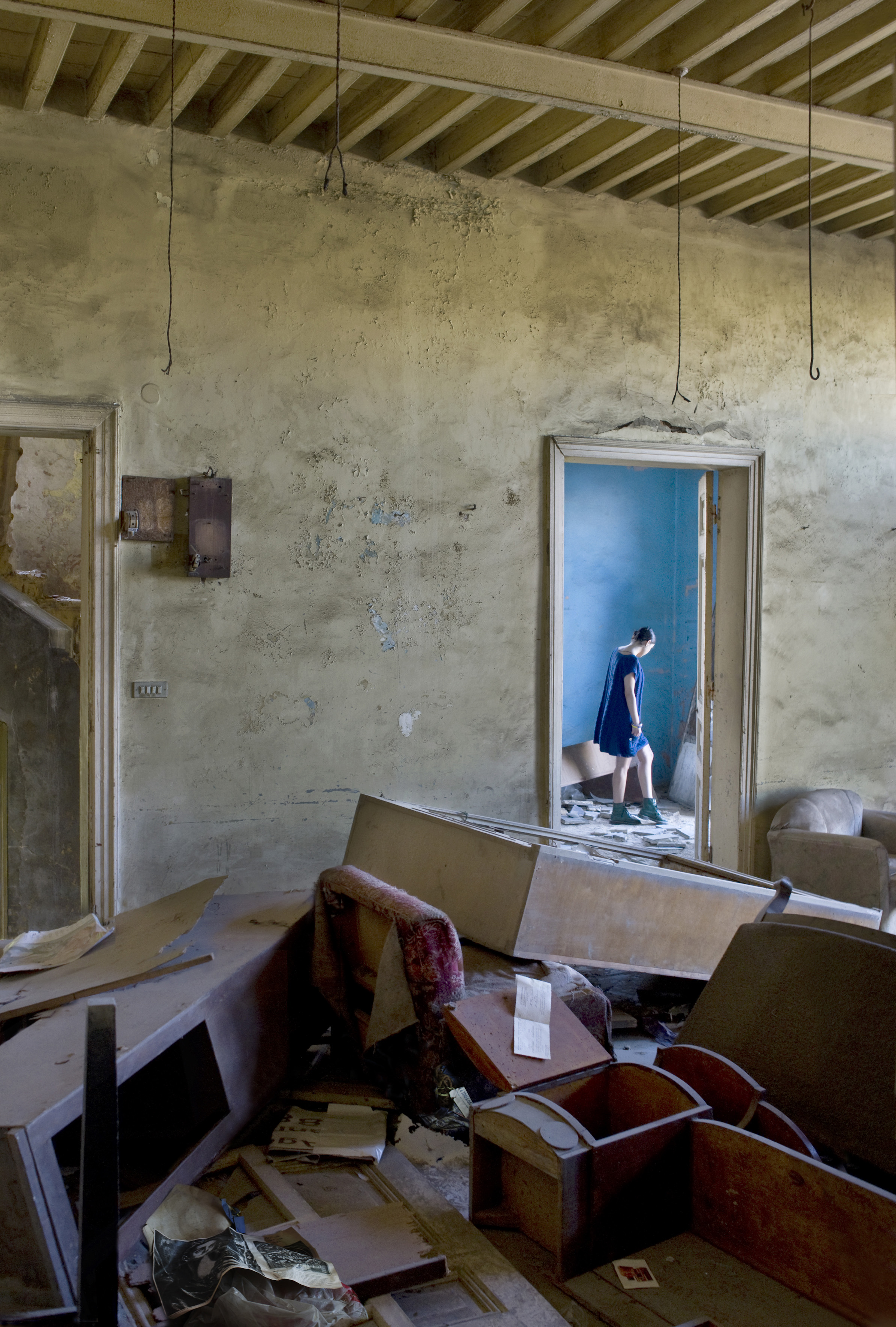 Grégory Buchakjian, Habitats abandonnés de Beyrouth, El Greco,  2011, photographie, © Grégory Buchakjian