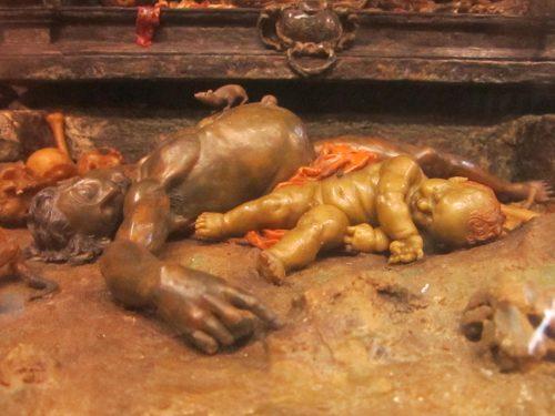 Figure 3. Gaëtano Giulio Zumbo, La Corruption des corps, Florence, musée de La Specola, détail : cadavres.