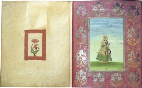 Figure 5. Œillet et portrait de dignitaire. Paris, BnF, Estampes et Photographie, OD44, f. 4v.-5.