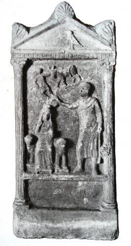 Fig. 9. Relief d'Azzanathkona. Sanctuaire d'Azzanathkona, Doura-Europos. P.R. V, pl. XIV.
