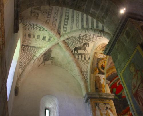 Figure 16. San Pietro di Biasca (Tessin, Suisse) : travée orientale nord, voûte.