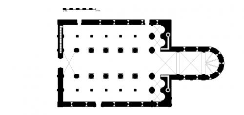 Figure 17. Sant'Abbondio de Côme (Lombardie, Italie) : plan