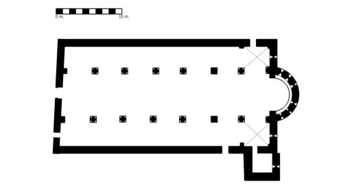 Figure 4. San Pietro a Gropina (Loro Ciufenna, Toscane, Italie), plan