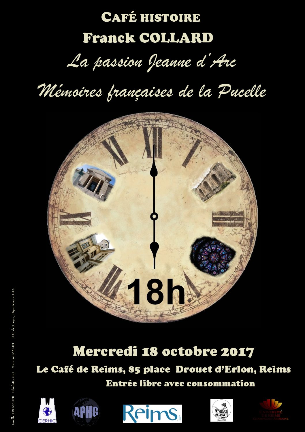 Café Histoire, mercredi 18 oct. 2017 : Franck Collard