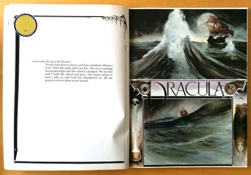 Jon J. Muth, Dracula: A Symphony in Moonight and Nightmares (Marvel Comics, 1986). prologue