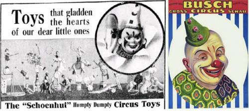 Publicité pour un jouet, Circus Toys, 1912 / Affiche Circus Busch, 1926