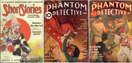 Short Stories, October 10, 1930 / The Phantom Detective, March 1936 / The Phantom Detective, May 1939