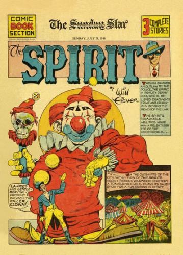 Palyachi, the Killer Clown, The Spirit, Will Eisner, The Detroit News (et syndication) July 28, 1940