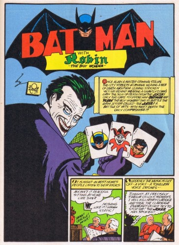 The Joker, Batman #1, April 25, 1940