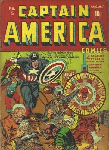Captain America Comics Vol 1 #5, August 1941