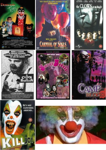 Demonic Toys (Peter Manoogian, 1992) / Carnival of Souls (Adam Grossman & Ian Kessner, 1998) / The Clown at Midnight (Jean Pellerin, 1998) / A Clown in Babylon (Nick Taylor, 1999) / Super Badass (Charles E. Cullen, 1999) / Camp Blood (Brad Sykes, 2000) / Killjoy (Craig Ross Jr., 2000) / Vulgar (Bryan Johnson, 2000)
