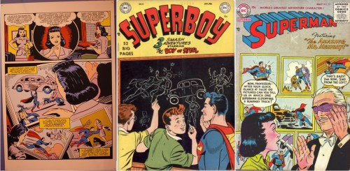 Superman, version française, circa 1942 / Superboy #12, January-February 1951 / Superman #97, May 1955