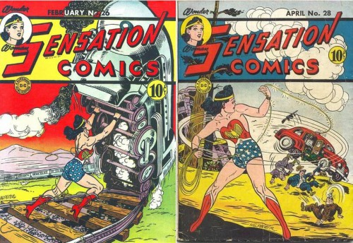 Sensation Comics #26, February 1944 / Sensation Comics #28, April 1944