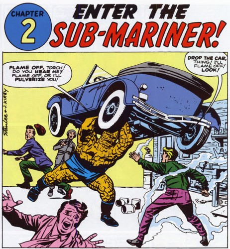 Fantastic Four #4, Chapter 2 - Enter the Sub-Mariner, by Stan Lee and Jack Kirby, May 1962