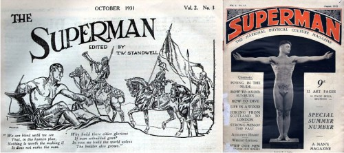 The Superman, physical culture magazine, v2 n1, October 1931 / Superman - the National Physical Culture Magazine, British magazine, August 1933