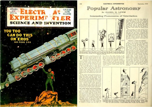 Electrical Experimenter, v7 #5, Cover art from a painting by George Wall, September 1919, cover and page 398