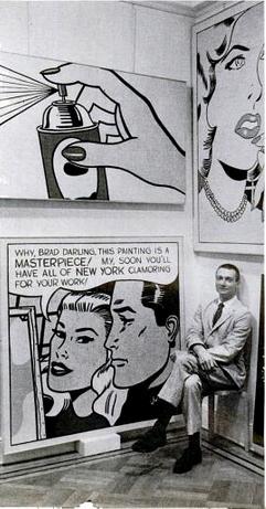 Roy Lichtenstein dans la galerie Castelli, Life, June 15, 1962, p. 120