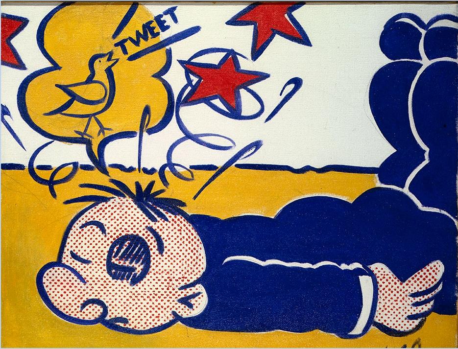 Roy Lichtenstein, Wimpy (Tweet), 1961, Huile sur toile, 40.6 x 50.8 cm, collection particulière