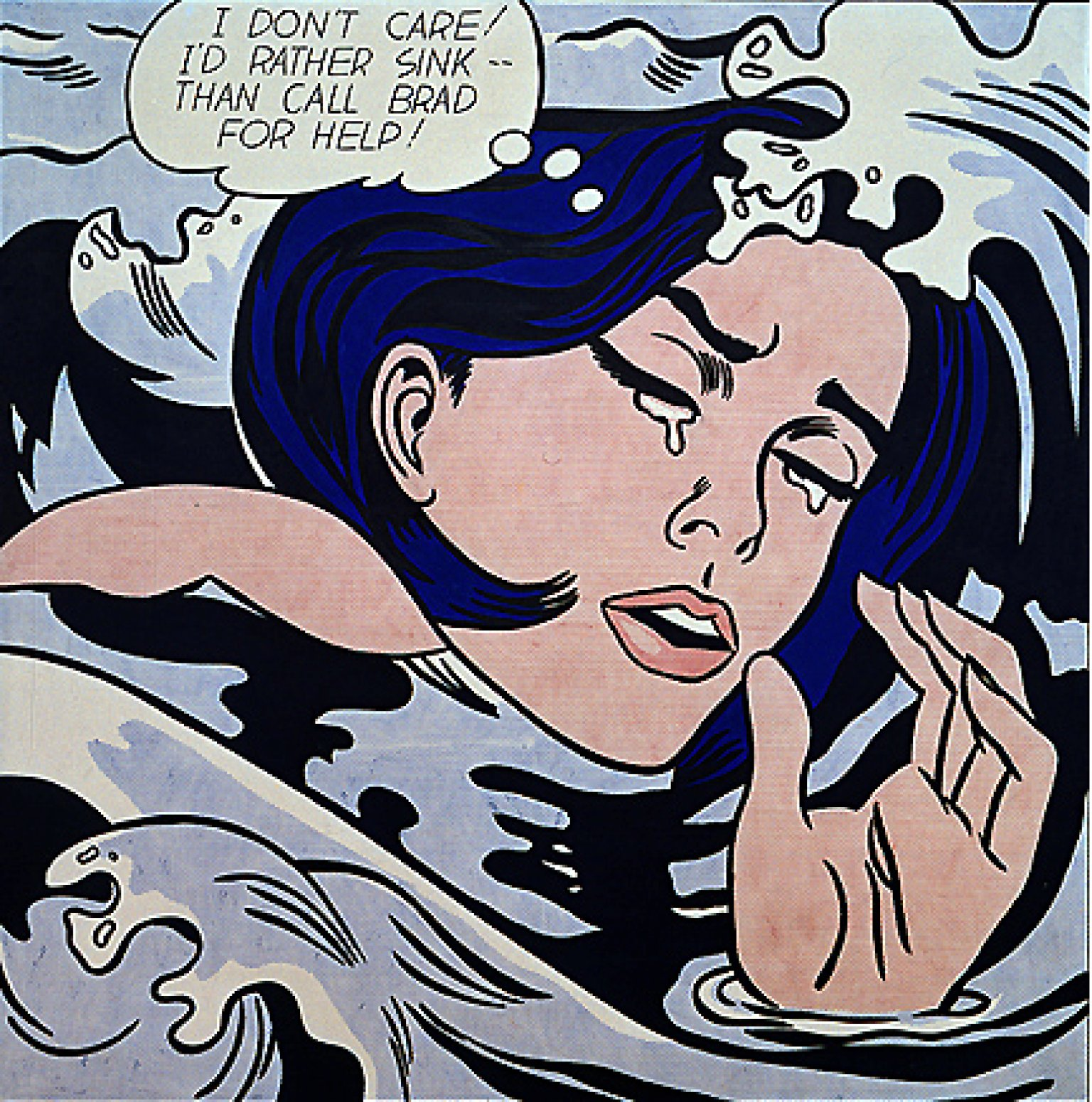 Roy Lichtenstein, Drowning Girl, 1963, huile et magna sur toile, 171,6 x 169,5 cm, The Museum of Modern Art, New York City
